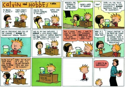 Calvin & Hobbes demonstrate business acumen