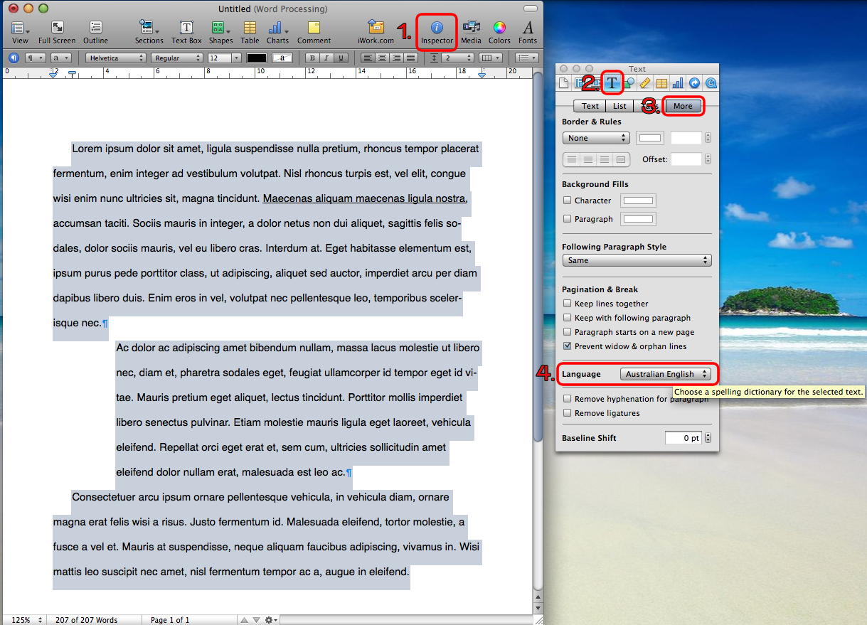 How to set the default language in Mac OSX or Pages to be ...